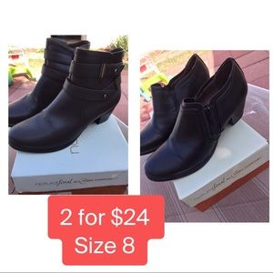 Natural Soul Brown & Black Boots size 8
